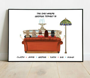 Personalised Friends Word Art Picture Print Poster Keepsake Gift Birthday Family