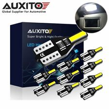10x AUXITO T10 W5W LED Wedge Interior Number Plate Light Globe 6000K Error Free