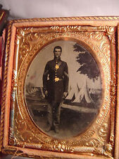 Civil War Soldier 1/6 Plate Tinted Tin Type