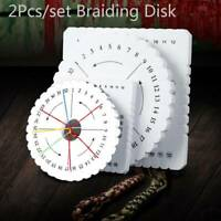 2Pcs Round Square Kumihimo Beading Cord Disc/Disk Braiding Braided Plate DIY l