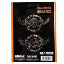 Harley Davidson HD Skull Wings calavera emblema ADHESIVO DECAL sticker cromo