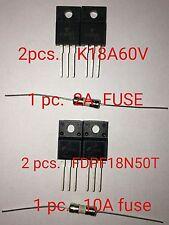 SAMSUNG PN64E550 POWER SUPPLY BN44-00515A Parts K18A60V(2) FDPF18N50 (2) FUSE(2)