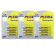 12 AAA 3A Rechargeable Batteries 600mAh Triple A nimh 1.2V Volt 500+ Cycles
