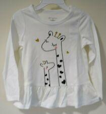 Bnwt Macy's First Impressions Giraffe Drop Ruffle Top Girl's Size 3T