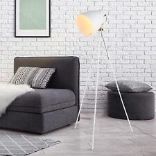 HOMCOM 40W Tripod Floor Lamp Adjustable Shade Standing Industrial Style White