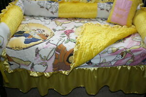 Beauty and The Beast Bedding 4 Piece Set