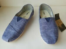 Toms Men's Classic Venice Collection Navy Rugged Canvas Shoes Size 7 Nwob