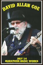 David Allan Coe autographed gig poster