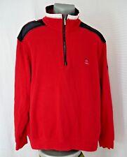 Claudio Campione Designer  Mens Red Pullover 1/4 Zip Yachting Sweater Size XXL