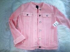 NEW GAP Peach DENIM JACKET SIZE L 10
