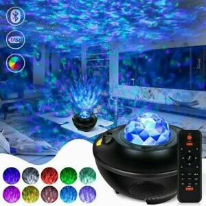 LED Galaxy Starry Night Light Projector Ocean Star Sky Party Kids Baby Room Lamp