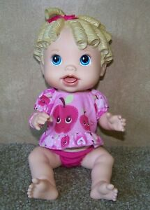 """Hasbro 2009 Baby Alive Interactive Doll Baby All Gone 14"""" Talking Doll"""