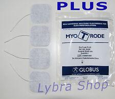 Globus 4 ELECTRODOS PLUS CUADRADO 5x5 tela de micro fibra de vidrio Suave x