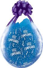 Feliz Cumpleanos Qualatex 18cm globos claros X 5 - relleno con llenado de aire