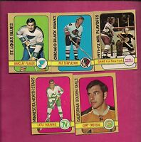 1972-73 OPC PLAGER + STAPLETON + CROTEAU + NANNE + PLAYOFF EX-MT (INV#2423)