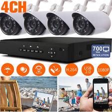 4CH 1080N DVR 700TVL IR Cut 24IR Leds 3.6mm CCTV Camera Outdoor Security Kit