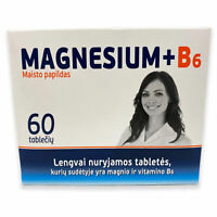 Magnesium + B6 Vitamin 60 Tabletten  je 300 mg Gesundheit Muskelaufbau Магний B6