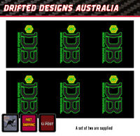Aus Seller reproduction Fork Stickers to Suit Fox 36 series set of 2