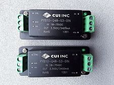 Cui Pyb10-Q48-S3-Din Dc-Dc Converter ( Lots of 2 )