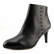 Coach Womens Hickory Black Leather Ankle Zip Boots 11 NEW IN BOX