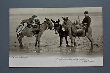 R&L Postcard: Superb Card Showing Donkeys and Children, A Lull in Business