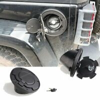 Locking Fuel Tank Cover Door Gas Lid Filler Cap Kit For Jeep Wrangler JK 2007-17