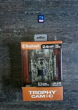 Bushnell 24MP Trail Camera factory sealed new trophy cam 0.3 second w/ 16gb SD