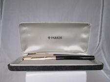 Estilográfica y bolígrafo Parker 51 Mk III. Aerométrica. 1970. Reino Unido. Caja