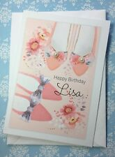 Personalised Birthday card Sister Mum Nan Niece Daughter pretty Shoes A5