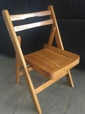 Vtg. Antique Child's Folding Solid Wood , Pouting Chair,Time Out