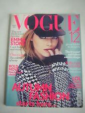 Vogue UK August 2012 Emma Stone,Terry Richardson,Gary Oldman,Aerin Lauder