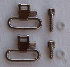 """Nickel Silver Sling Mount 1-1/4"""" Quick Detach Swivels Screw Stud Base Kit S3123"""