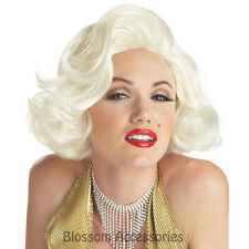 W210 Classic Marilyn Monroe Platinum Blonde Bombshell  50s Women Costume Wig