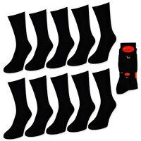 10 bis 100 Paar Herrensocken Baumwolle Business Herren Socken Strümpfe Schwarz