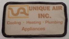 Unique Air Inc. Cooling Heating Plumbing Advertising Uniform Patch  #Mtbr