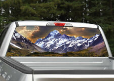 Mountain Scenery #2 Landscape Rear Window Decal Graphic for Truck SUV