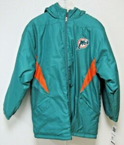 NFL Miami Dolphins Embroidered on Sideline Youth Jacket Small by Reebok