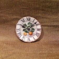 Dollhouse Miniature Porcelain Clock Plate