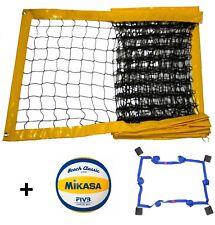Beach Volleyball Training Netz Beachvolleyball  8,5x1m + Mikasa VX30 + Linien