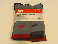 New Balance crew 5 pack pair socks Men's grey P52264 shoe size 9-12.5 performanc