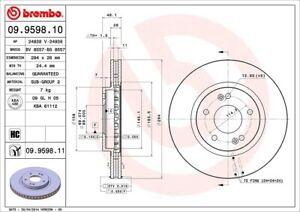 Disc Brake Rotor-GLS Front Brembo 09.9598.11 fits 05-06 Hyundai Santa Fe