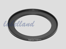 58mm-72mm Filter Adaptor Ring Converts 58mm lens thread to 72mm 58-72 Step-Up UK