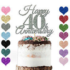 Personalise Year Love Happy Wedding Anniversary Cake Topper 10th 20 25 30 40 50