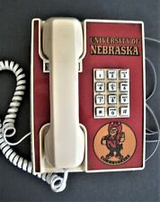 Vintage Table Telephone University of Nebraska Cornhuskers Working