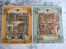2 x 30 Piece Wooden Brambly Hedge Jigsaw Puzzles Complete 1982?
