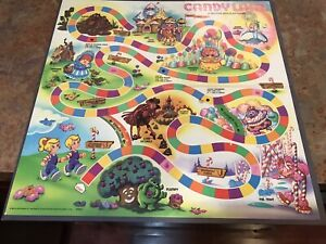 Vintage Milton Bradley Candy Land 1984 Game Board Only