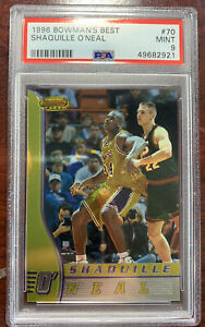 1997-1998 Bowmans Best Shaquille O'Neal Lakers #70 Basketball PSA 9 PMJS 21