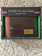 Tommy Hilfiger Men's Leather Melton Billfold Wallet with Removable Card Holder