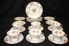 21pc K A Krautheim Selb Bavaria Floral Pattern 8156 Luncheon Plates, Cups