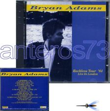 """BRYAN ADAMS """"RECKLESS TOUR '84"""" RARE CD MADE IN ITALY - SEALED"""